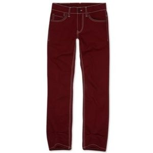 Levi's 511 Stretch Red Jeans